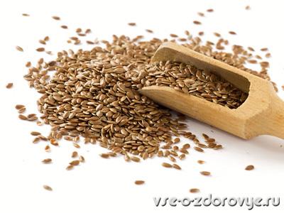 так выглядят семена льна